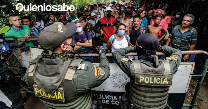 Venezolanos entrando Colombia