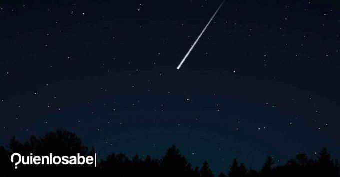 Lluvia meteoros estrellas líridas