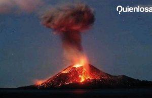 Krakatoa volcán erupción Indonesia