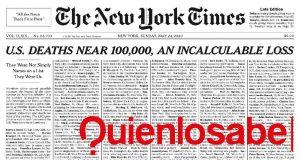 Portada New York Times