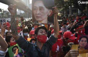 Protestas en Myanmar