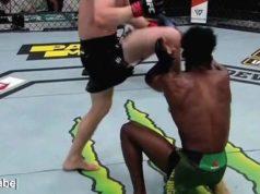 Rodillazo ilegal UFC