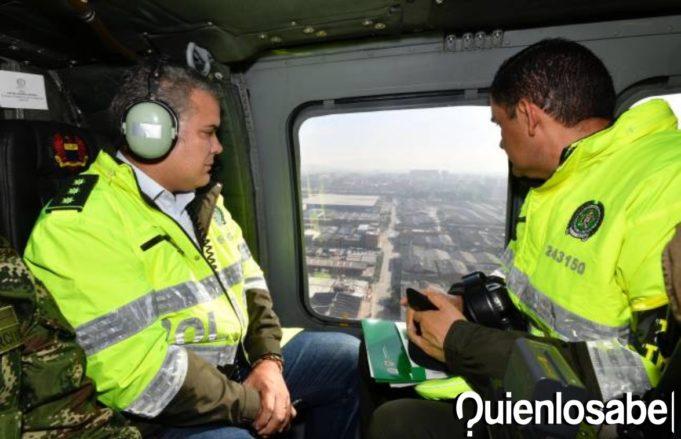 Iván Duque Helicóptero