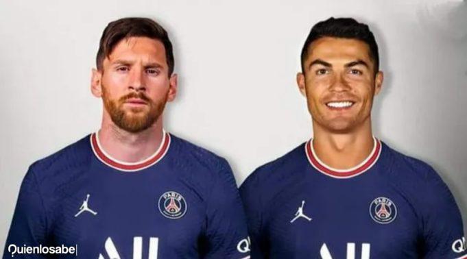 Messi y Cristiano en el PSG